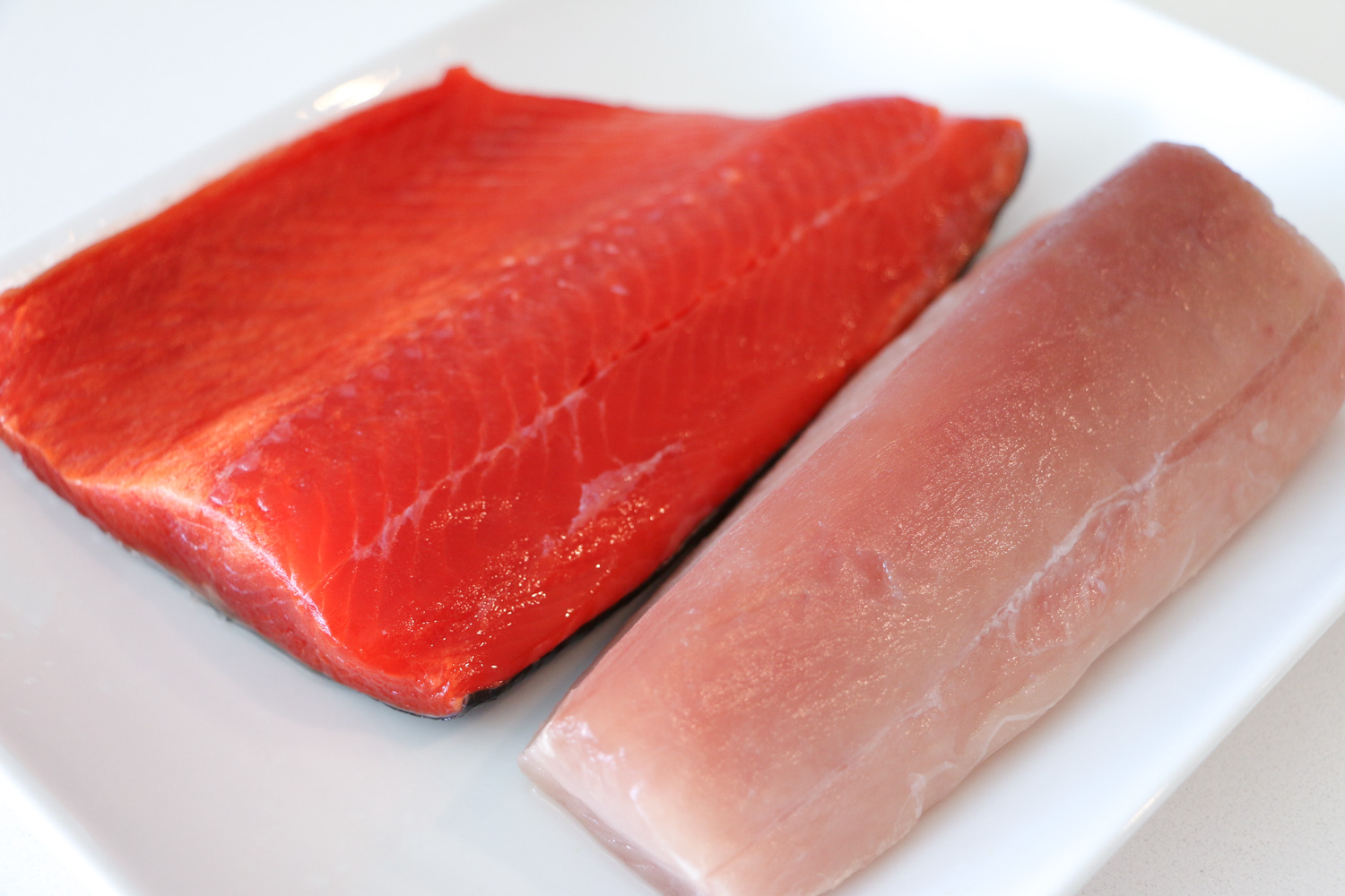 Fresh albacore tuna and sockeye salmon from BC