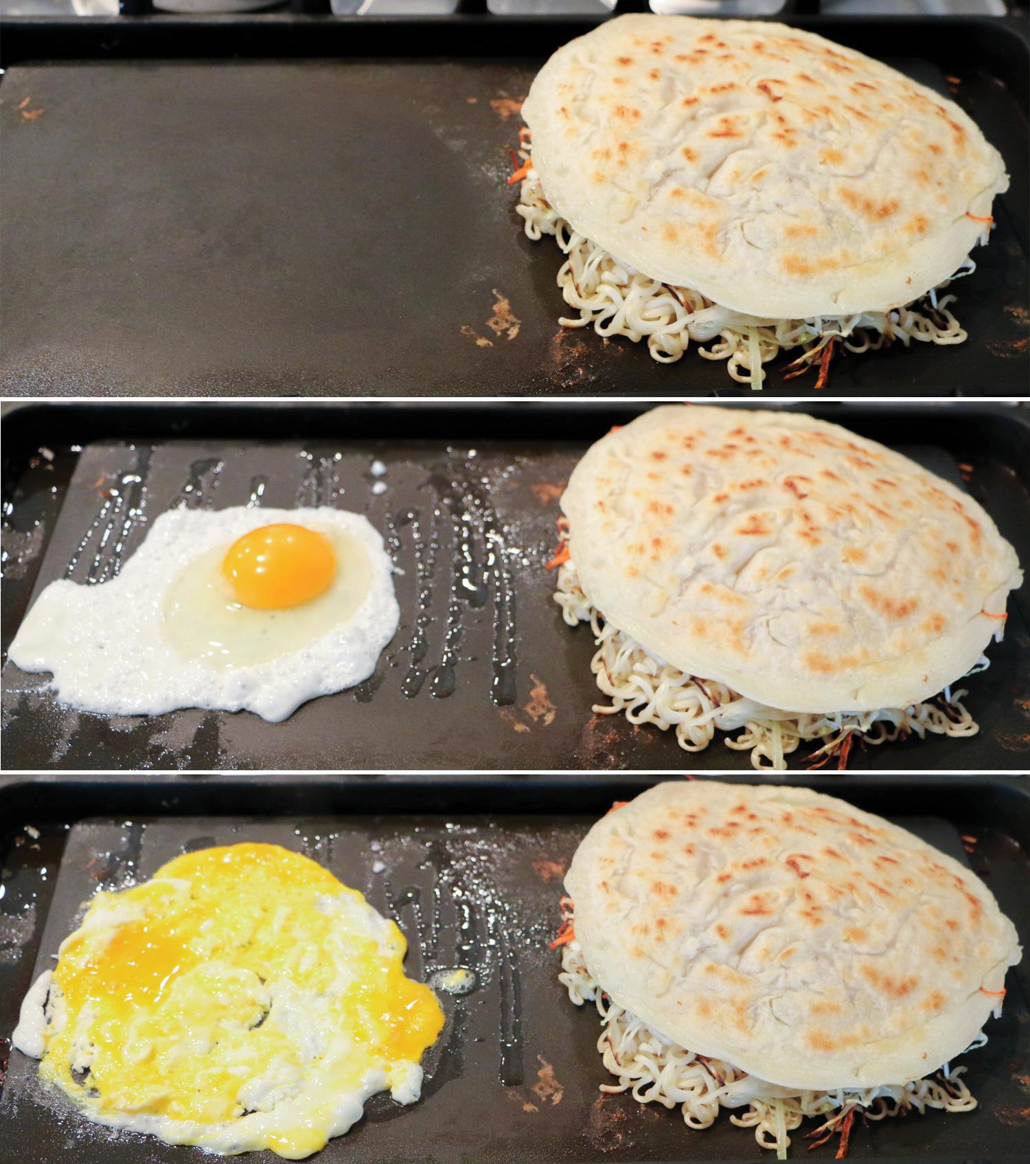 Steps to Make Hiroshima Style Okonomiyaki on a Griddle