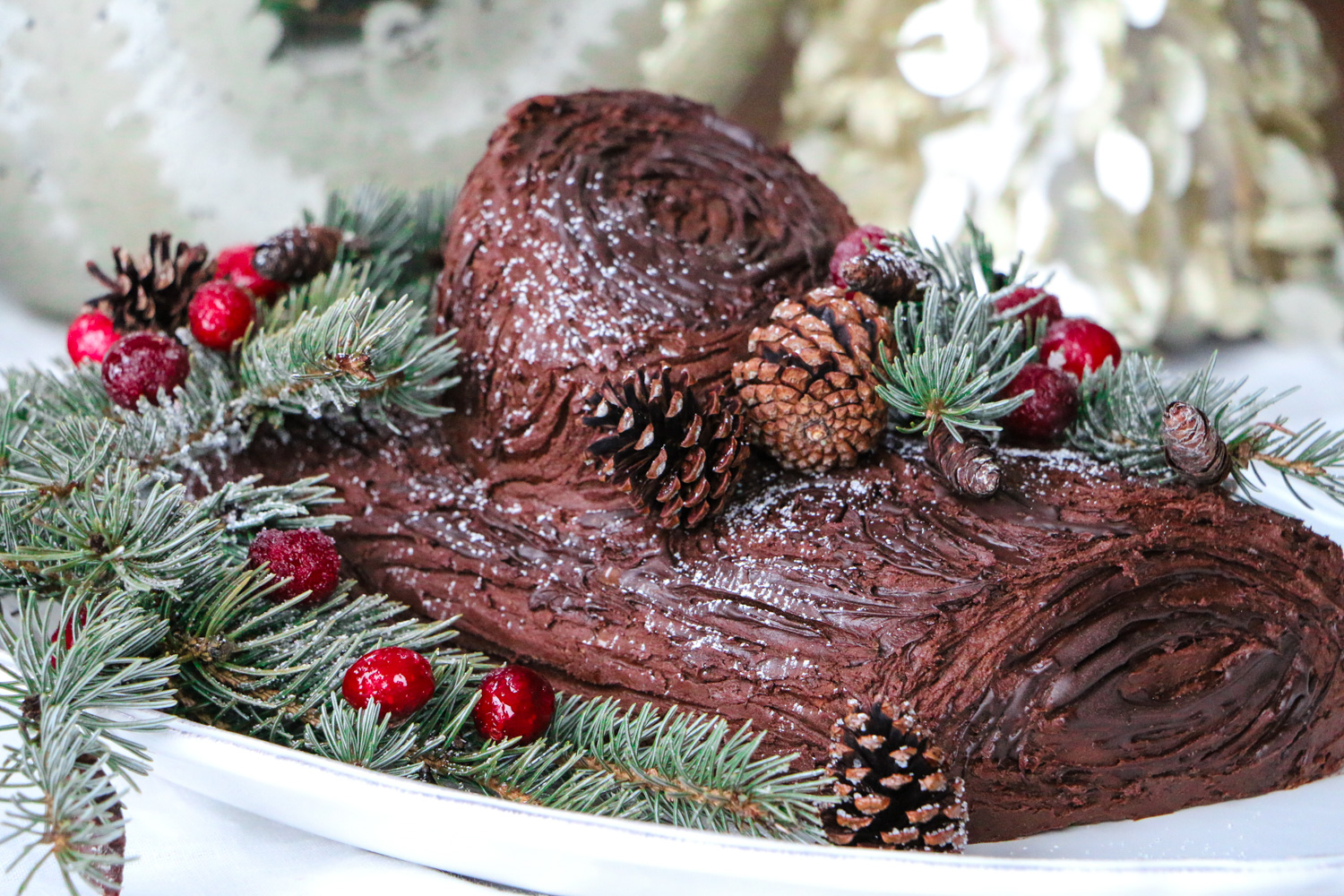 Baileys yule log b che de no l emi cooks - Buche de noel decorations ...