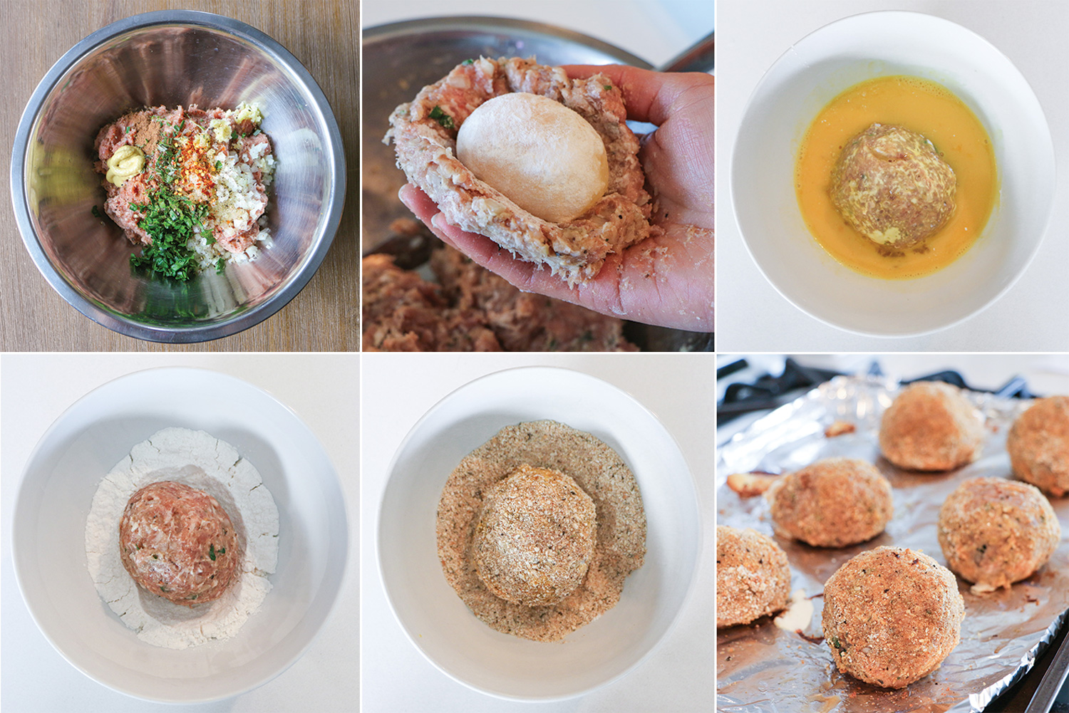 Step by step picture instructions on how to make Scotch eggs