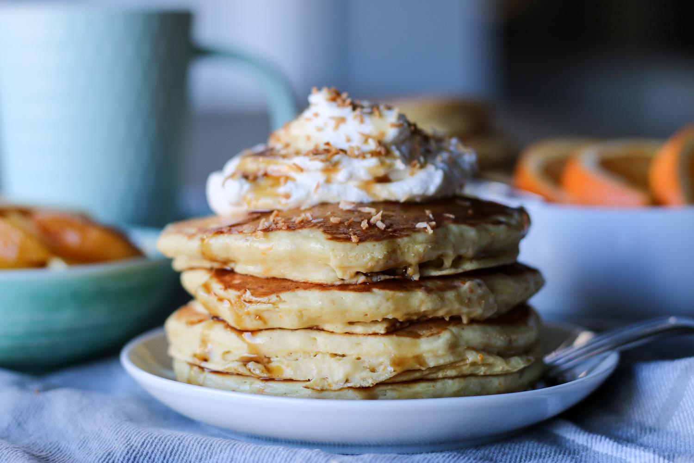 Orange sour cream pancakes