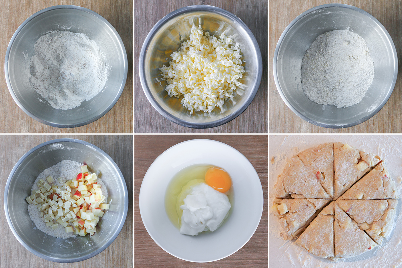 Apple White Chocolate Scones step by step picture guide