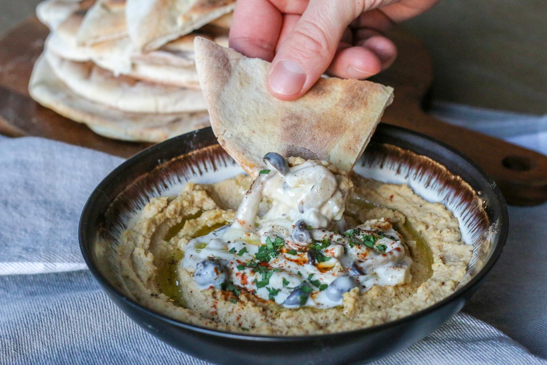 Mushroom Hummus Dip